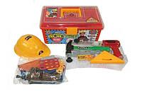 """Детский строительный набор инструментов в чемодане """"Строитель"""" на батарейках"""