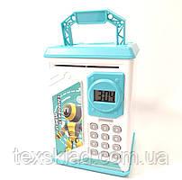 Дитячий сейф-скарбничка з кодовим замком і годинами ROBOT BODYGUARD