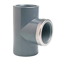 """Тройник 90° c металлическим кольцом EFFAST d25x3/4"""" (RGRTIR025C)"""