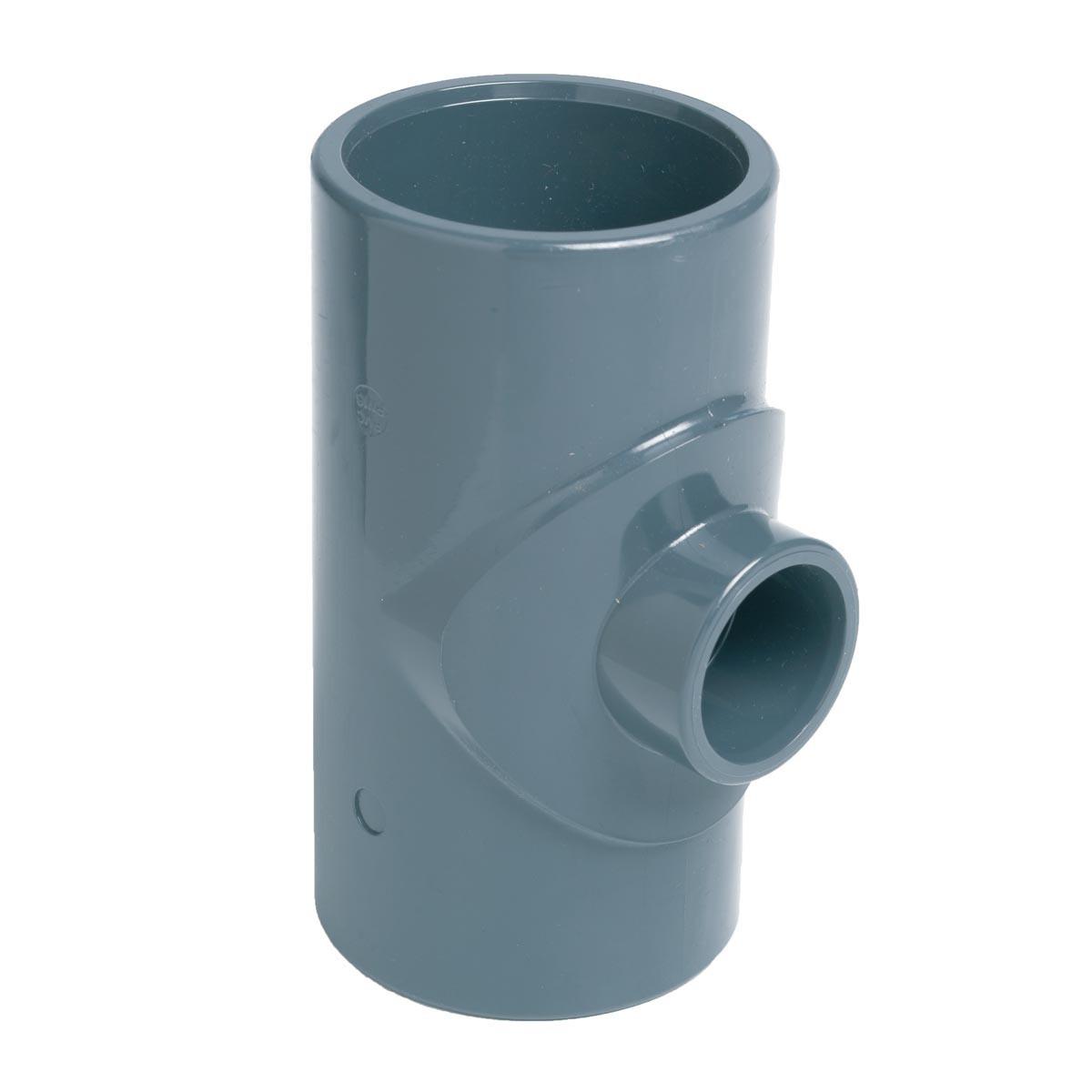 Тройник клеевой 90° редукционный EFFAST d75x63 мм (RDRTRD075G)