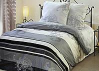 Полуторный комплект постельного белья Классик. 100% ХЛОПОК Простыня на резинке