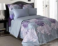 Полуторный комплект постельного белья Пальмира. 100% ХЛОПОК Простыня на резинке