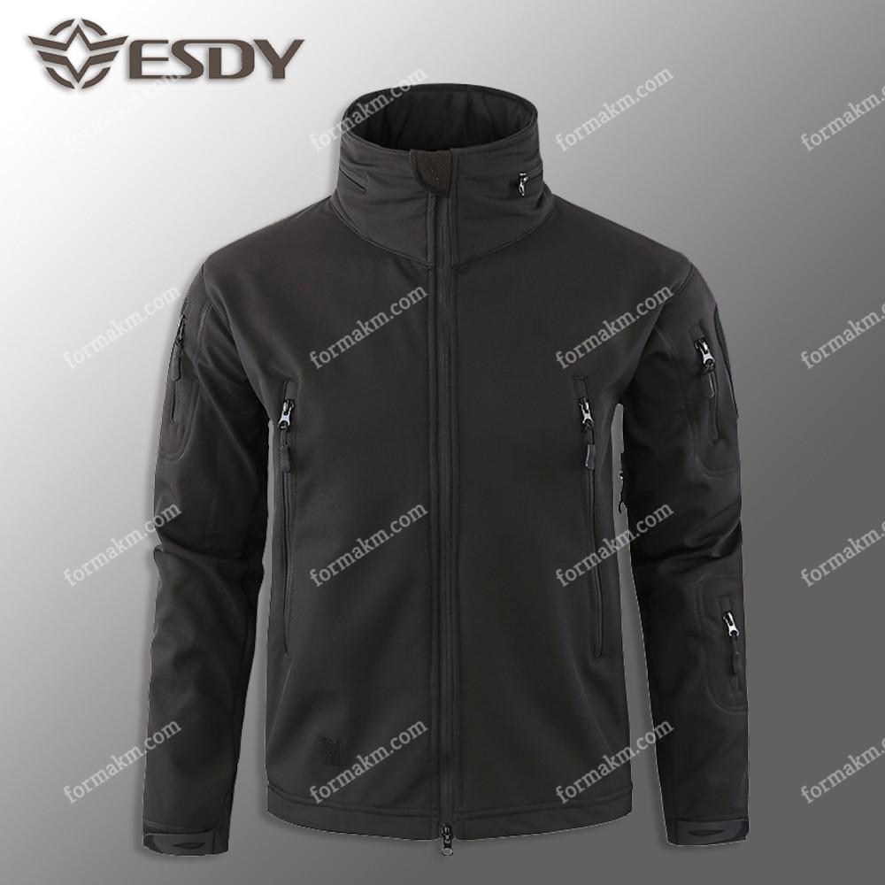 Тактическая куртка на флисе ESDY SoftShell Tactic Black