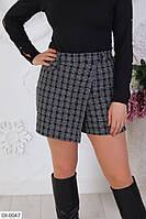 """Шорты-юбка женские на запах модель 535 vl (42-44, 46-48, 50-52) """"VLADA"""" недорого от прямого поставщика"""