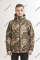 Тактическая, Военная куртка на флисе SoftShell ЗСУ Пиксель ММ-14, фото 1
