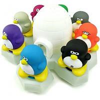 Детская резиновая игрушка для купания набор Пингвины на льдине (8 птичек)