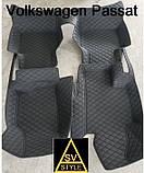 3D Килимки в салон Volkswagen Passat B8 з Екошкіри ( 2014+) з текстильними накидками Пасат Б8, фото 2