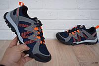 Мужские  кроссовки в стиле Merrell Tetrex синие с оранжевым, фото 1