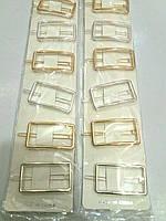 Заколка на чёлку квадратная золото/серебро