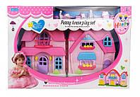 Детский игрушечный Кукольный дом с куклами и мебелью ТМ A-Toys / Royaltoys