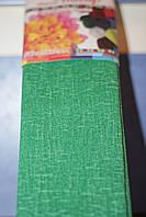 Бумага для творчества разноцветная гофрированная (крепированная) 2000*500мм. Цвет зеленый.