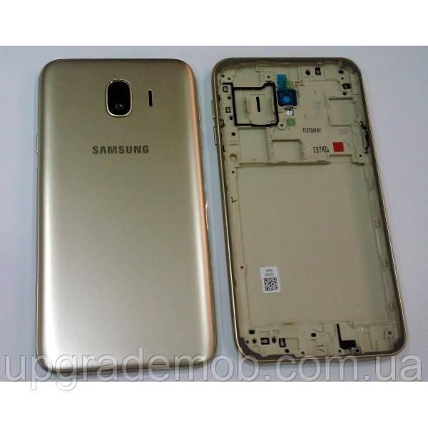 Задняя крышка Samsung J400F Galaxy J4 (2018) золотистая оригинал