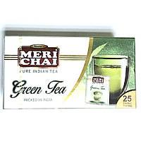 Зелений індійський чай Мері Чай, Meri Chai, 25 пак. в інд.пакетах, индийский чай Мери Чай, Аюрведа Здесь