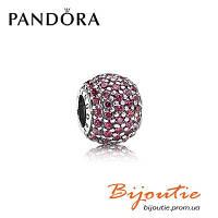 Pandora шарм Pave КРАСНЫЙ ШАР ПАВЕ 791051CZR серебро 925 цирконий Пандора оригинал
