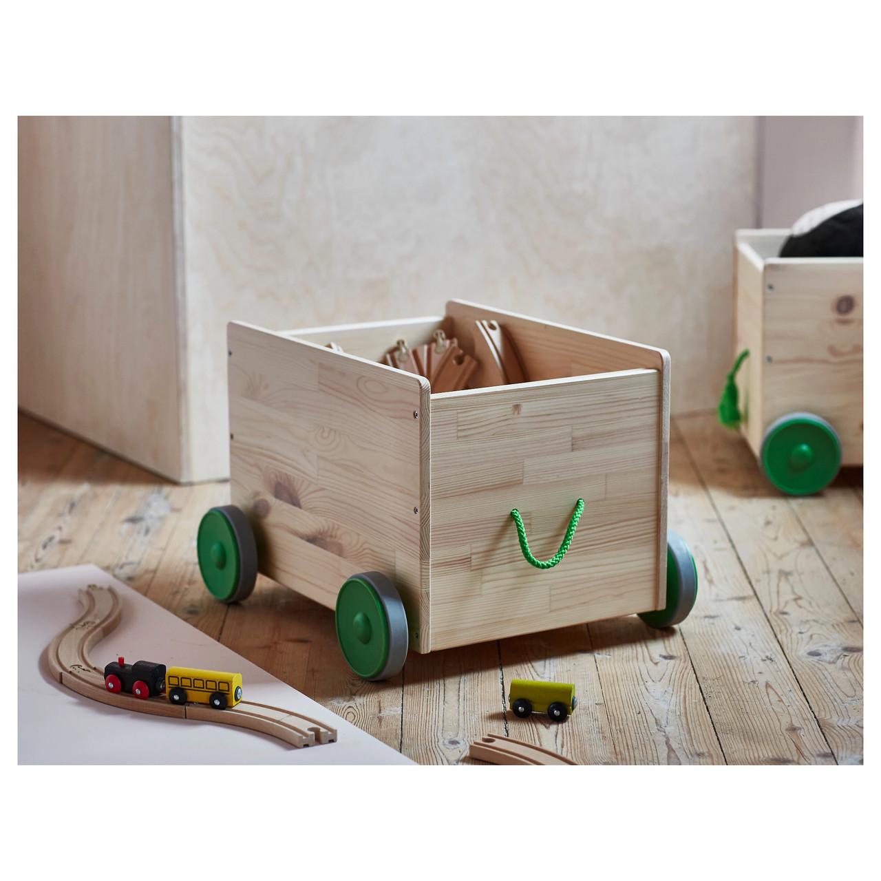 Ящик для іграшок на колесах FLISAT
