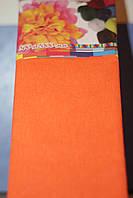 Бумага для творчества разноцветная гофрированная (крепированная) 2000*500мм. Цвет оранжевый.