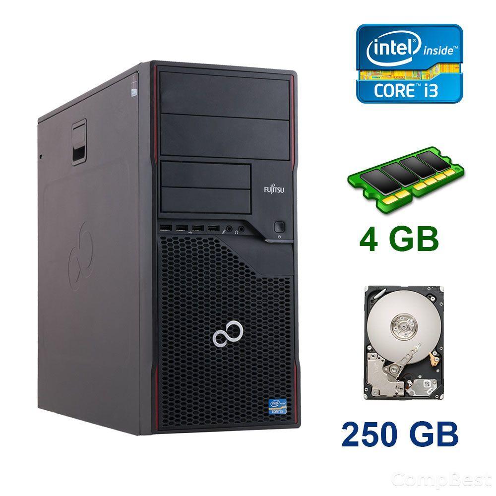 Fujitsu Esprimo P710 E85+ Tower / Intel Core i3-3220 (2 (4) ядра по 3.3 GHz) / 4 GB DDR3 / 250 GB HDD