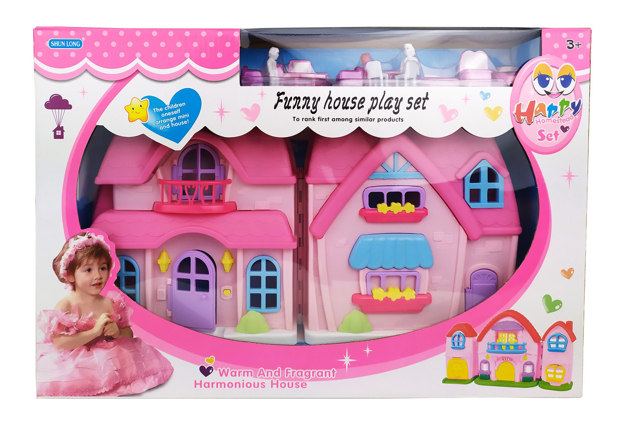 Кукольный дом SL325161 с куклами, мебелью