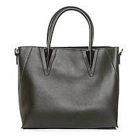Женская сумка невероятно тёмного зеленого цвета из натуральной кожи(35*27*13 см) ALEX RAI,010-1 8778-906 green