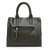 Изумрудная женская сумка классического стиля из натуральной кожи (33*28*13 см) ALEX RAI, 010-1 8634-1 green