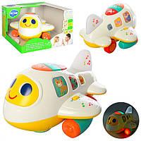 Детская развивающая игрушка Самолетик с подсветкой и музыкой