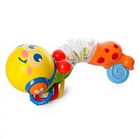 Детская развивающая игрушка погремушка Гусеничка (с прорезывателем для зубов)