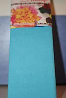 Бумага для творчества разноцветная гофрированная (крепированная) 2000*500мм. Цвет светло-голубой.