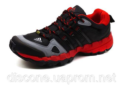 Кроссовки Terrex, унисекс, текстильные черные с красным