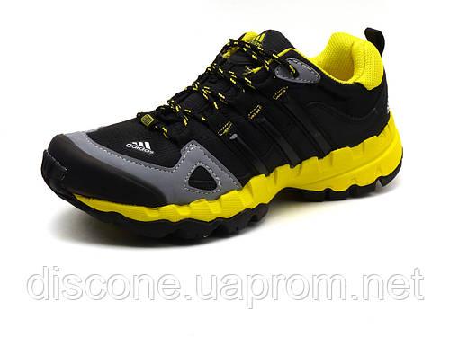 Кроссовки Terrex, унисекс, текстильные черные с желтым