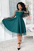 Платье женское нарядное вечернее красивое в разный горошек