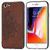 Чехол Embossed для Iphone 6 Plus / 6s Plus бампер накладка тканевый коричневый