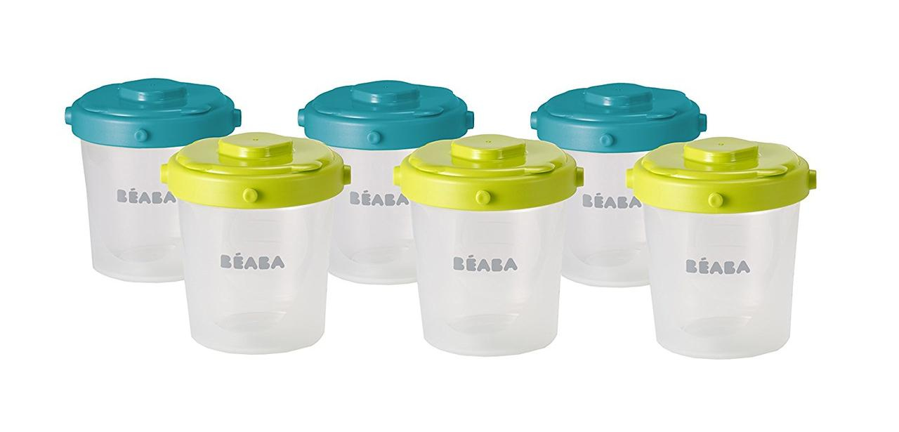 Контейнеры для хранения Beaba Clip Containers 6 шт. (200мл), арт. 912482