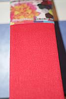 Бумага для творчества разноцветная гофрированная (крепированная) 2000*500мм. Цвет красный.