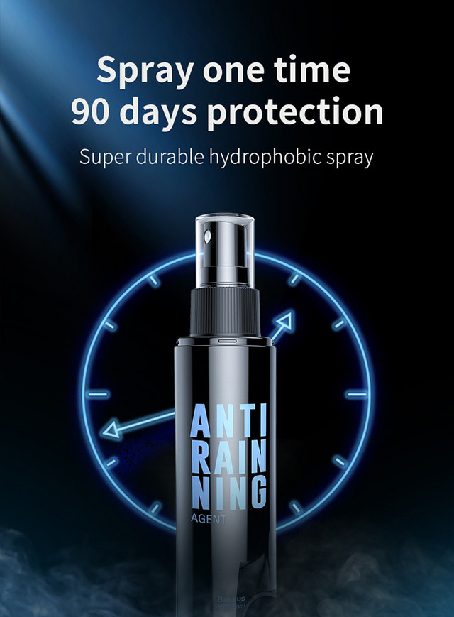 Противотуманный спрей для защиты автомобильного стекла от запотевания Baseus Аnti-fog Аgent ACFWJ-01 150 мл