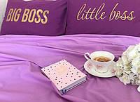 Евро комплект постельного белья фиолетовый