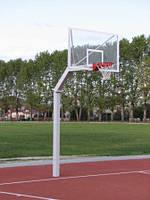Стойка баскетбольная стационарная уличная на одной опоре вынос стрелы от45- 60 см