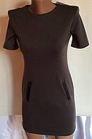 Подростковое платье базовое серый