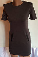 Подростковое платье базовое серый(без карманов)