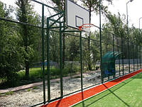 Стойка баскетбольная стационарная уличная на двух опорах вынос стрелы от45- 60 см