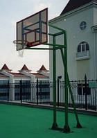 Стойка баскетбольная стационарная уличная на трех опорах вынос стрелы до 125см