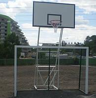 Стойка баскетбольная стационарная уличная на четырех опорах вынос стрелы от45- 60 см
