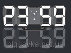 Часы 3D светодиодные светящиеся Digoo с будильником  Белый