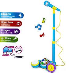 Детский игрушечный караоке-микрофон с MP3 и светомузыкой (2825E)