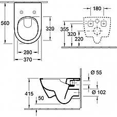 Підвісний унітаз Villeroy&Boch Subway 2.0 (5614R001) + кришка soft-close Subway 2.0 (9M68S101), фото 2