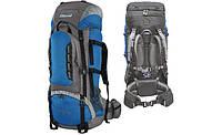 Рюкзак туристичний Mountain 65 (синий / серый), фото 1