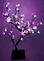 Светодиодное дерево «ЦВЕТУЩАЯ САКУРА»  60 см, бело-розовое