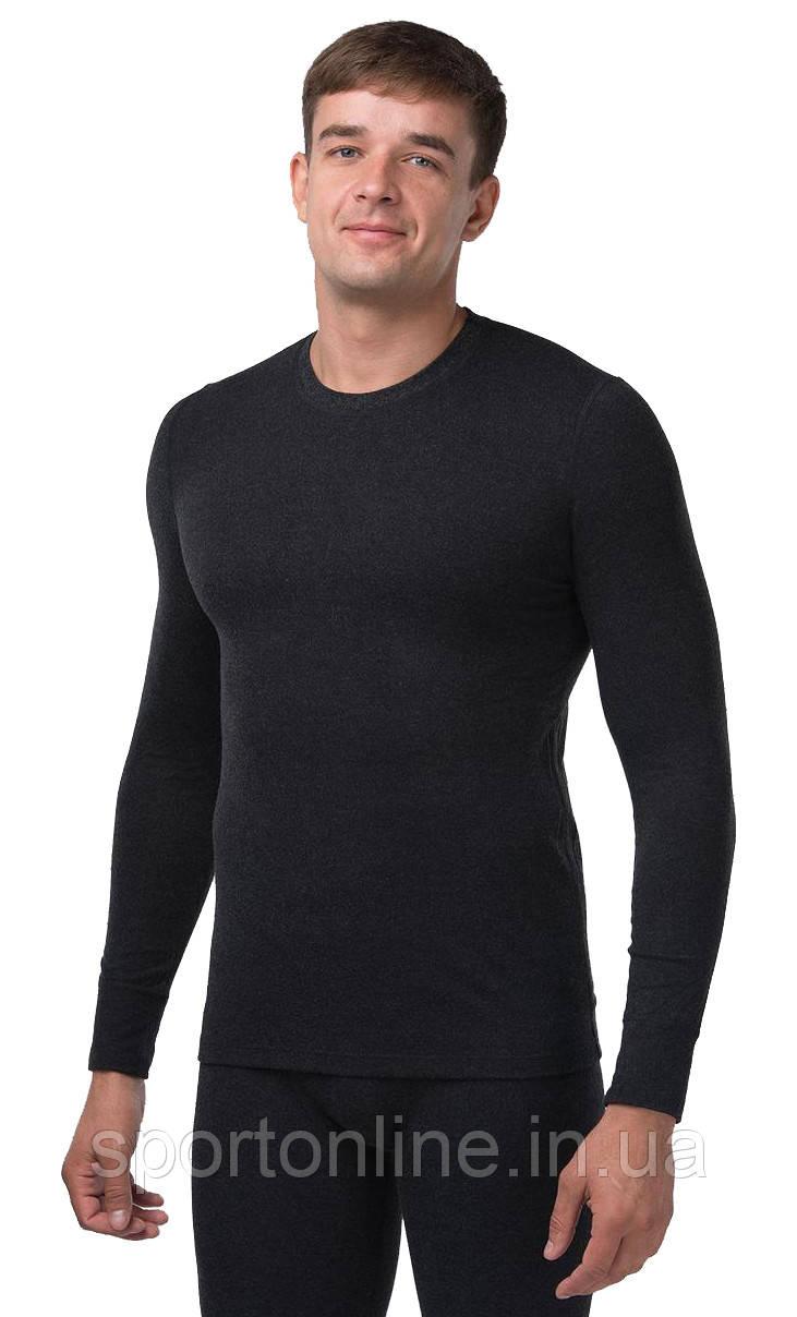 Термо джемпер мужской повседневный (термокофта) Kifa Wool Comfort черный