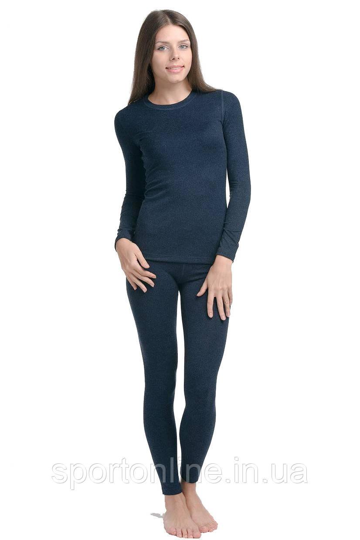 Комплект женского термобелья Kifa Wool Comfort, темно синий