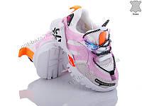 Кроссовки детские Эльффей 2910 white-pink (21-25) - купить оптом на 7км в одессе