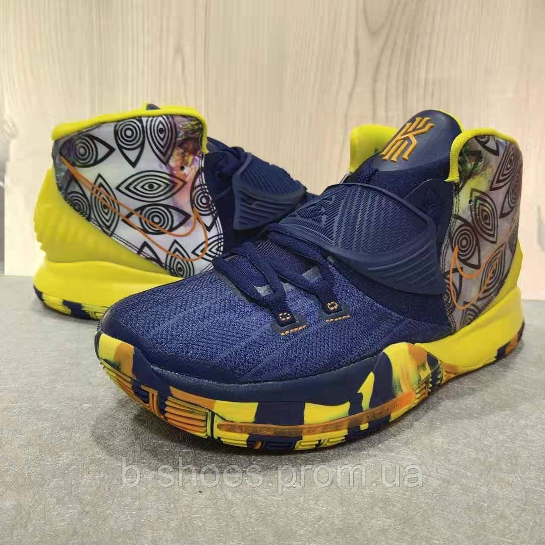 Мужские Баскетбольные кроссовки Nike Kyrie 6(Blue/yellow)